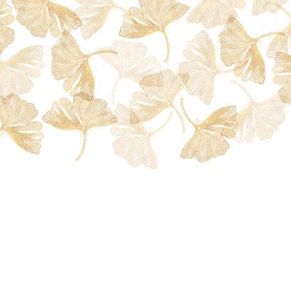 Einladung zur Hochzeit Ginkgoblätter Stempel Rückseite