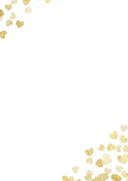 Einladung zur Hochzeit Goldene Herzen Rückseite