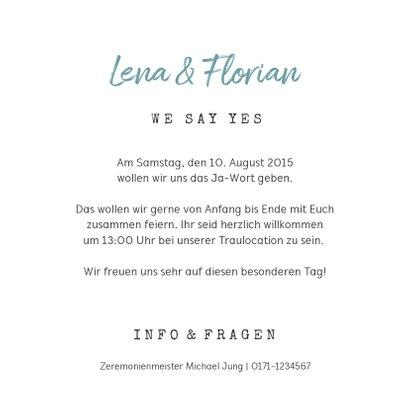 Einladung zur Hochzeit Wegweiser Sommerfeeling 3
