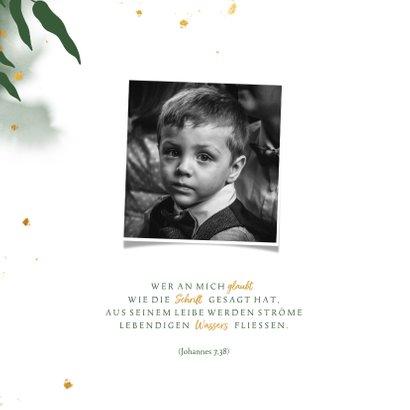 Einladung zur Kommunion botanisch & Goldakzente 2