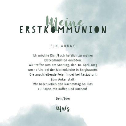 Einladung zur Kommunion bunter Tukan 3