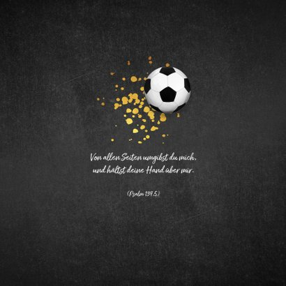 Einladung zur Kommunion Foto & Fußball auf Kreidetafel 2
