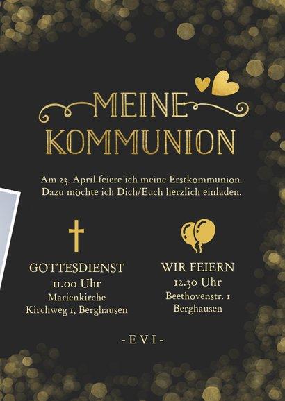 Einladung zur Kommunion Foto & Gold 3