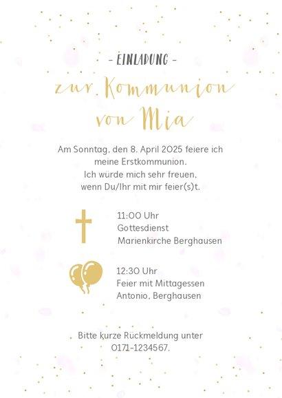 Einladung zur Kommunion Fotocollage Mädchen 3