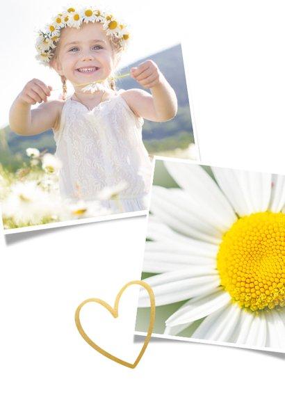 Einladung zur Kommunion Fotocollage und Goldherz 2