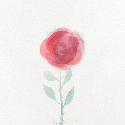 Einladung zur Kommunion mit Rosenmotiv 2
