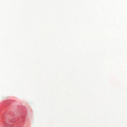 Einladung zur Kommunion mit Rosenmotiv Rückseite