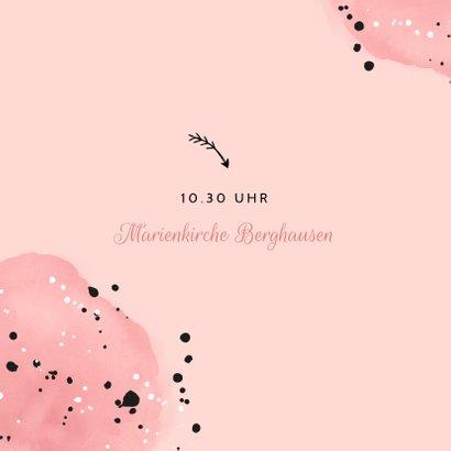 Einladung zur Kommunion rosa mit Foto 2