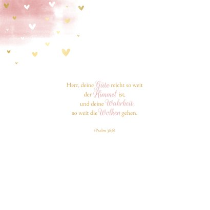 Einladung zur Kommunion Wasserfarbe rosa Taube 2
