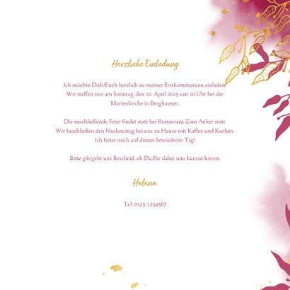 Einladung zur Kommunionsfeier botanisch & Goldakzente 3