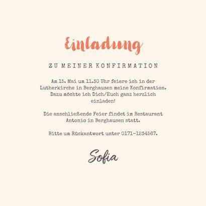 Einladung zur Konfirmation Foto und Frühlingsblumen 3