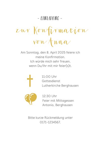 Einladung zur Konfirmation Fotocollage mit Herzen 3