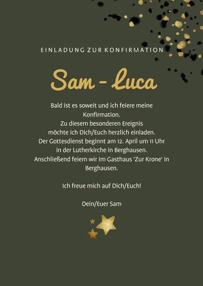 Einladung zur Konfirmation mit Foto und Sternen 3