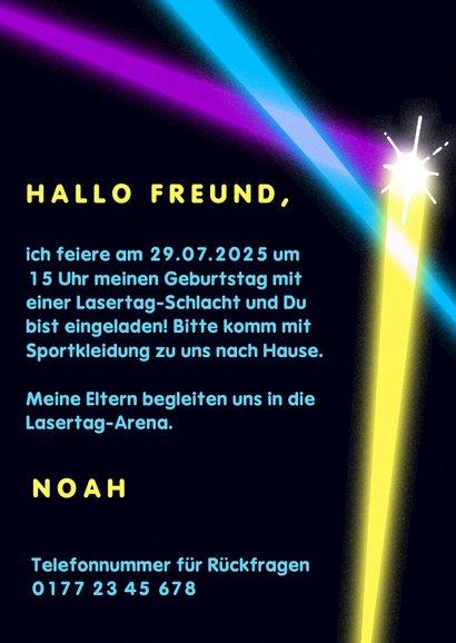 Einladung zur Lasertag-Party 3
