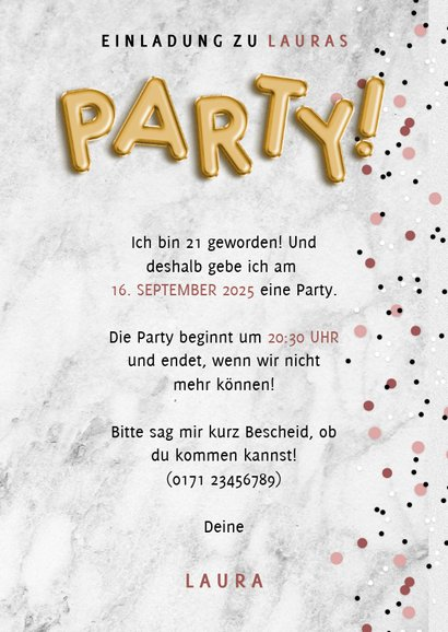 Einladung zur Party mit Fotocollage 3