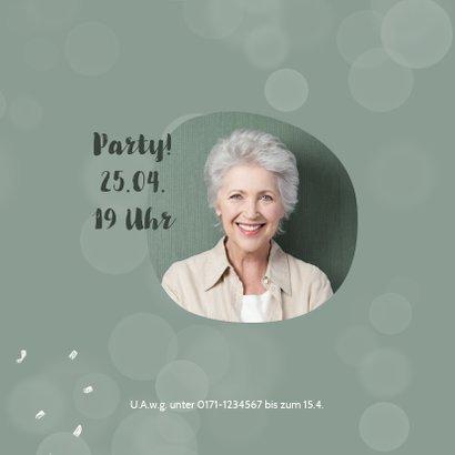 Einladung zur Pensionsfeier Konfetti und Foto 2