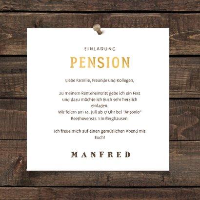 Einladung zur Rentnerfeier Bierglas mit Alter 3
