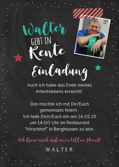 """Einladung zur Rentnerfeier """"Die besondere Lebensphase"""" 3"""