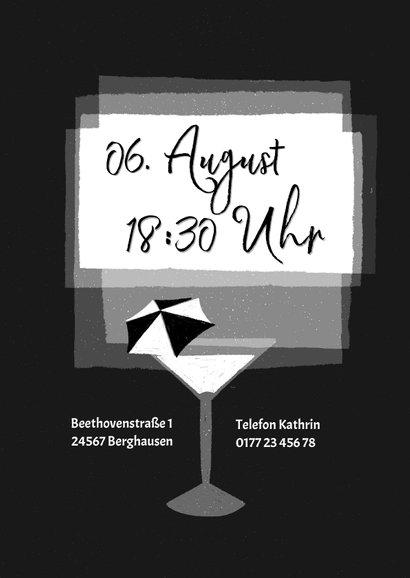 Einladung zur Schwarz-Weiß Mottoparty - Drinks 2