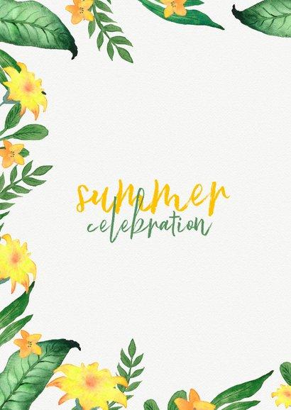 Einladung zur Sommerparty Blumen grüngelb 2