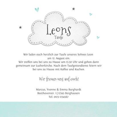 Einladung zur Taufe kleiner Bruder Elefanten und Herzen 3