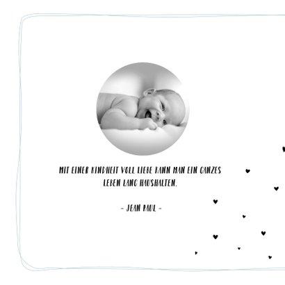 Einladung zur Taufe mit kleinen Herzchen 2