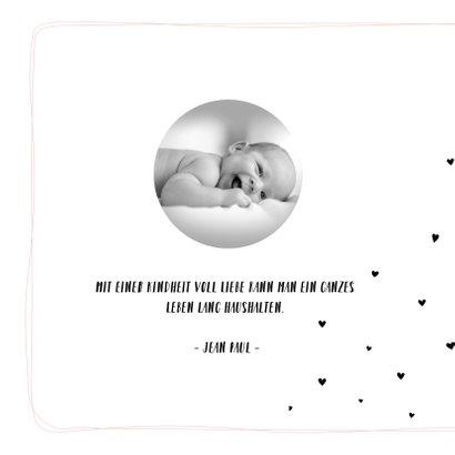 Einladung zur Taufe rosa mit kleinen Herzchen 2