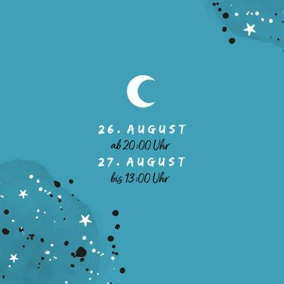 Einladung zur Übernachtungsparty Junge Mond und Sterne 2