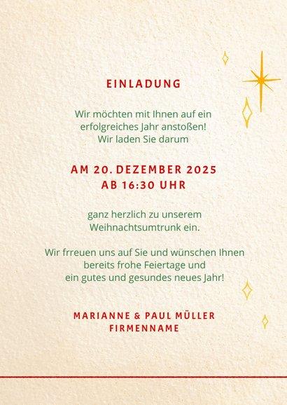 Einladung zur Weihnachtsfeier 'eat, drink and be merry' 3