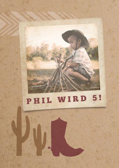 Einladung zur Wild West Party 2