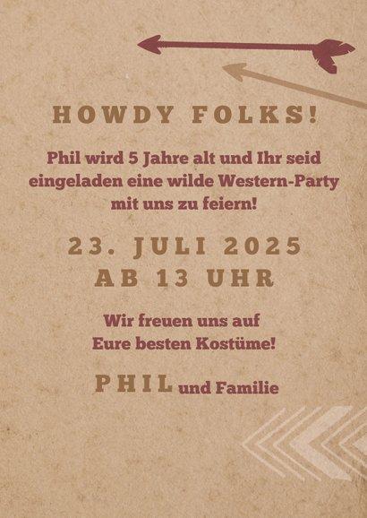 Einladung zur Wild West Party 3