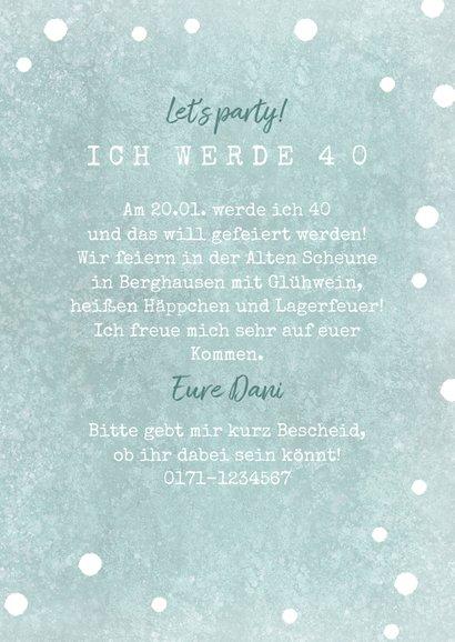 Einladung zur Winterparty Wegweiser 3