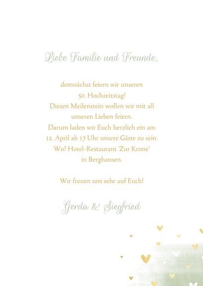 Einladungkarte zum Hochzeitstag mit Tauben und Herzchen 3
