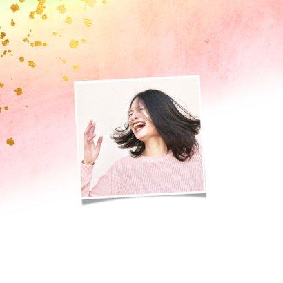 Einladungskarte 21. Geburtstag mit Goldeffekten 2