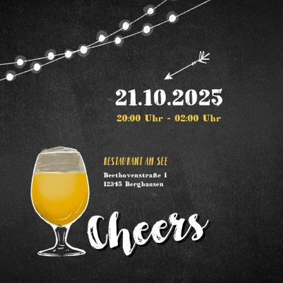 Einladungskarte 25. Geburtstag Foto und Bierglas 2