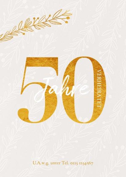 Einladungskarte 50. Hochzeitstag Zweige 2