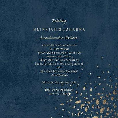Einladungskarte Diamantene Hochzeit 1960-2020 3