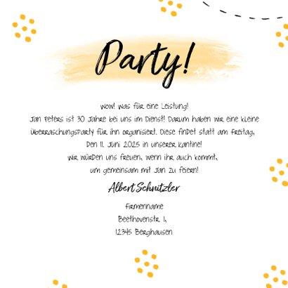 Einladungskarte Dienstjubiläum Sektgläser 3
