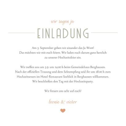 Einladungskarte Fotocollage Hochzeit moderne Klassik 3