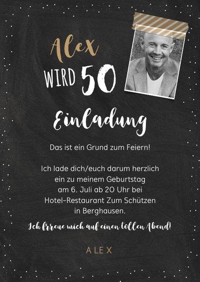 Einladungskarte Geburtstag Erfahrung 50 3