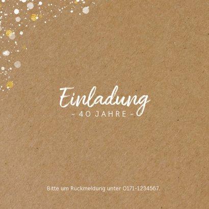 Einladungskarte Geburtstag Konfetti-Tupfen 2