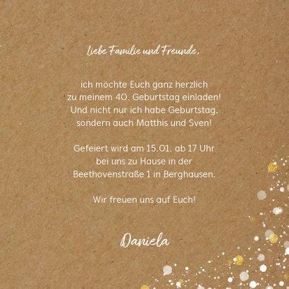 Einladungskarte Geburtstag Konfetti-Tupfen 3
