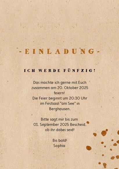 Einladungskarte Geburtstag Kupfertupfer & Foto 3