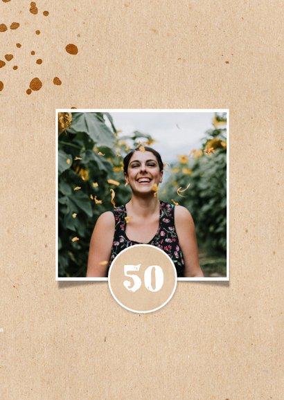Einladungskarte Geburtstag mit Foto und Farbspritzern 2