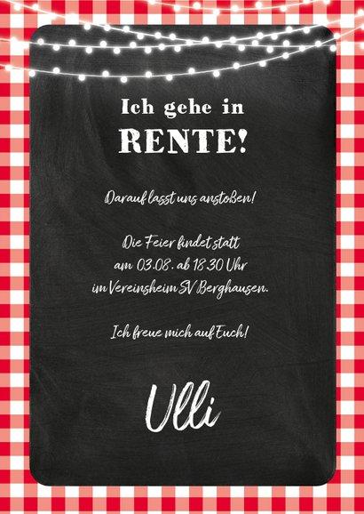 Einladungskarte Grillfest zur Rente 3