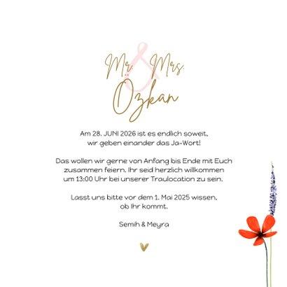 Einladungskarte Hochzeit Blumenwiese 3
