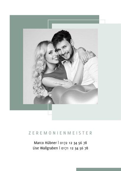 Einladungskarte Hochzeit Design abstrakt eigenes Foto 2