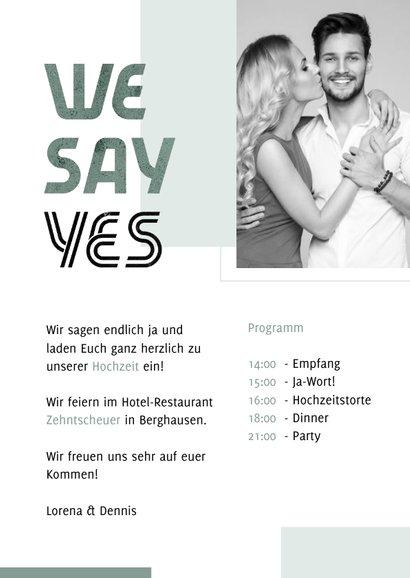 Einladungskarte Hochzeit Design abstrakt eigenes Foto 3