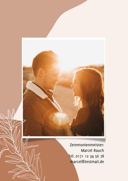 Einladungskarte Hochzeit eigenes Foto filigrane Zweige 2