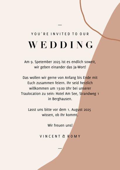 Einladungskarte Hochzeit eigenes Foto filigrane Zweige 3